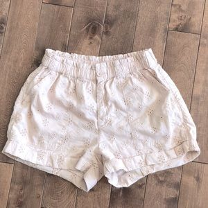 Aerie 100% Cotton Embroidery Shorts- Size S- Pink